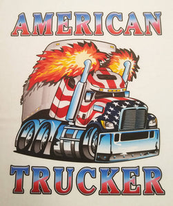 USA American Trucker Truck Driver Graphic Printed T-Shirt