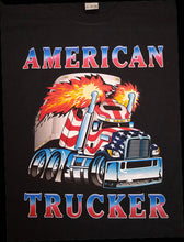 Load image into Gallery viewer, USA American Trucker Truck Driver Graphic Printed T-Shirt