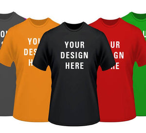 YOUR Logo or Art on 100 Custom Screen Printed T-shirts - Includes a One Color Print on Front and/or Back