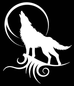 TRIBAL WOLF Vinyl Decal Stickers for Cars, Windows, Signs, Etc.