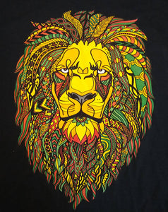 Reggae Rasta Lion Graphic Printed T-Shirt - Adult Men & Women Style Tees - Free Gift!