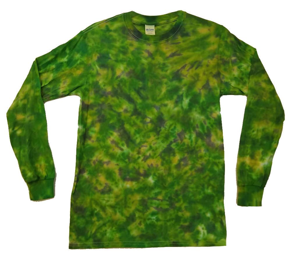 Adult Unisex Camo Camouflage Long Sleeve Tie-Dye T-Shirt 100% Cotton