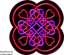 Load image into Gallery viewer, Heart Knot 4a - Red - Print 8.5 x 11