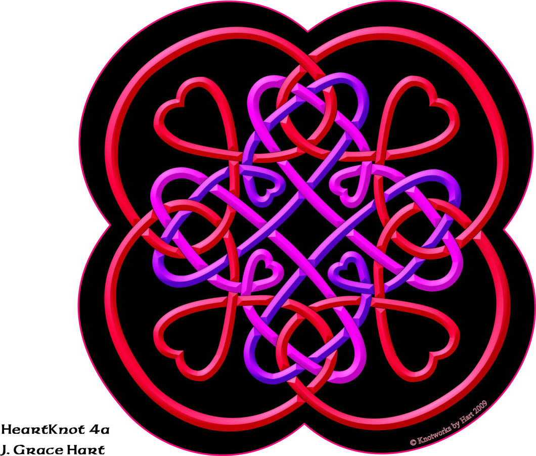 Heart Knot 4a - Red - Print 8.5 x 11