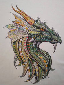Ethnic Medieval Dragon Graphic Printed T-Shirt