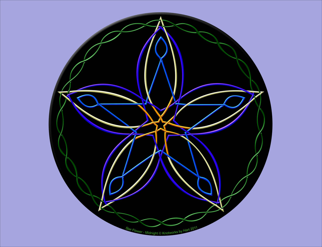Star Flower - Midnight - Print