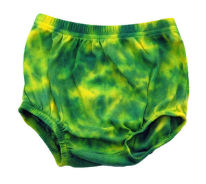 Infant Tie Dye Diaper Cover Baby Bloomers - Oregon Ducks Green Yellow Marble