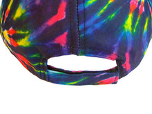 Load image into Gallery viewer, Rainbow Spiral Burst Tie Dye Baseball Cap Trucker Hat