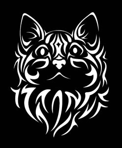 TRIBAL CAT Vinyl Decal Stickers for Cars, Windows, Signs, Etc.