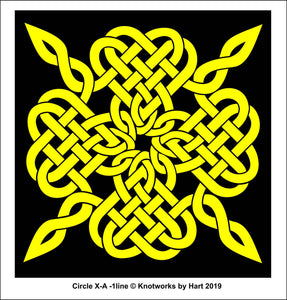 Yellow Square knot - Print 8.5 x 11