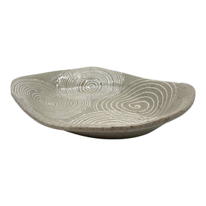Tray with White Spiral Pattern