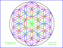 Load image into Gallery viewer, Blue Window- Flower of Life - Print 8.5 x 11