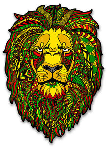 Colorful Reggae Rasta Lion Vinyl Sticker Decal - Large 5 inch