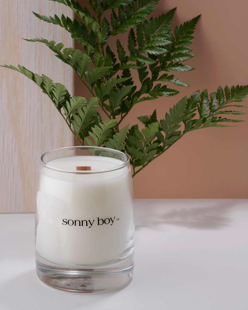 cannabis cande. wooden wick candle. coconut soy wax candle. clean burning candles. handmade candles
