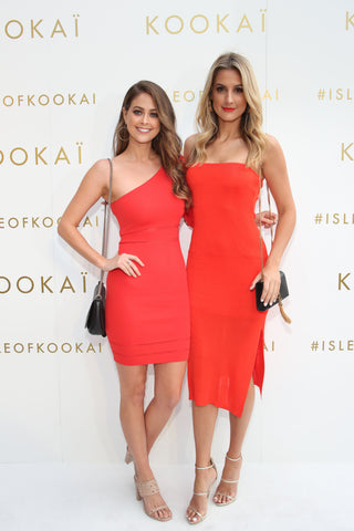 Lana Jeavons-Fellows and Laura Dundovic wearing Kookai