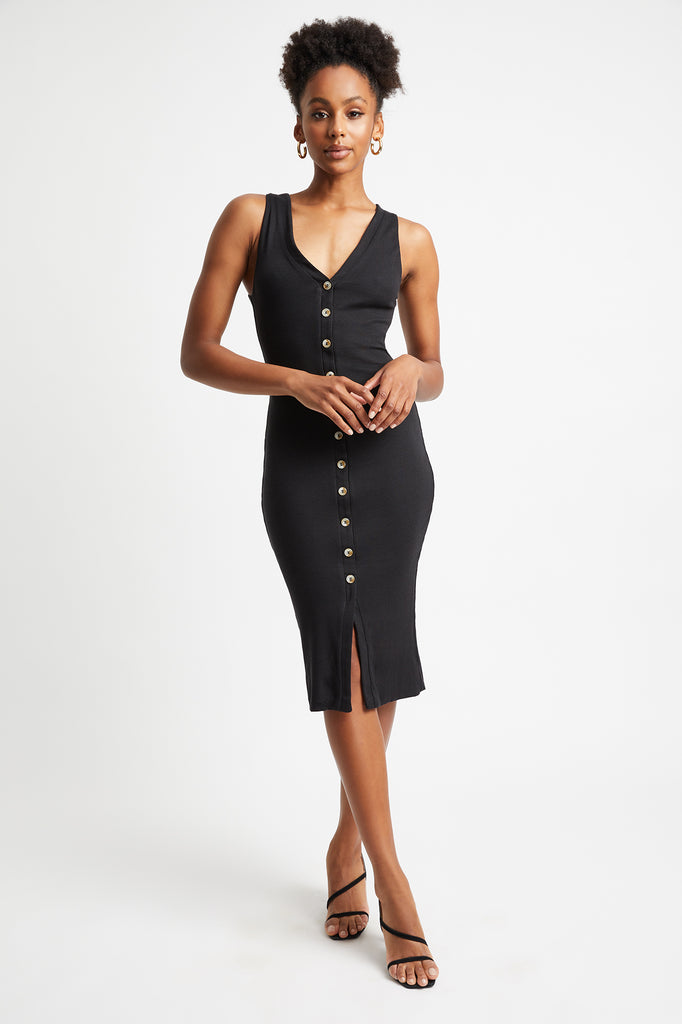 Sophie Button Midi Dress