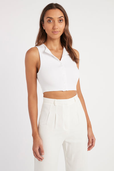 Sophie Button Crop Top