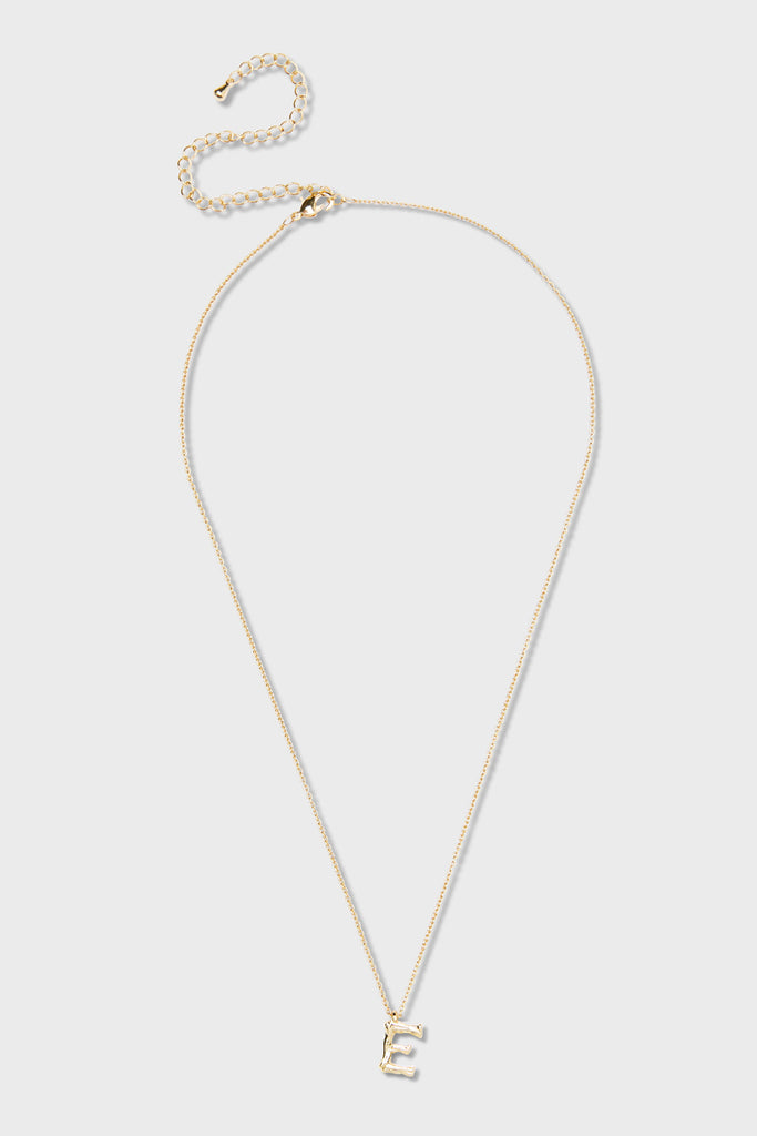 E - Initial Necklace