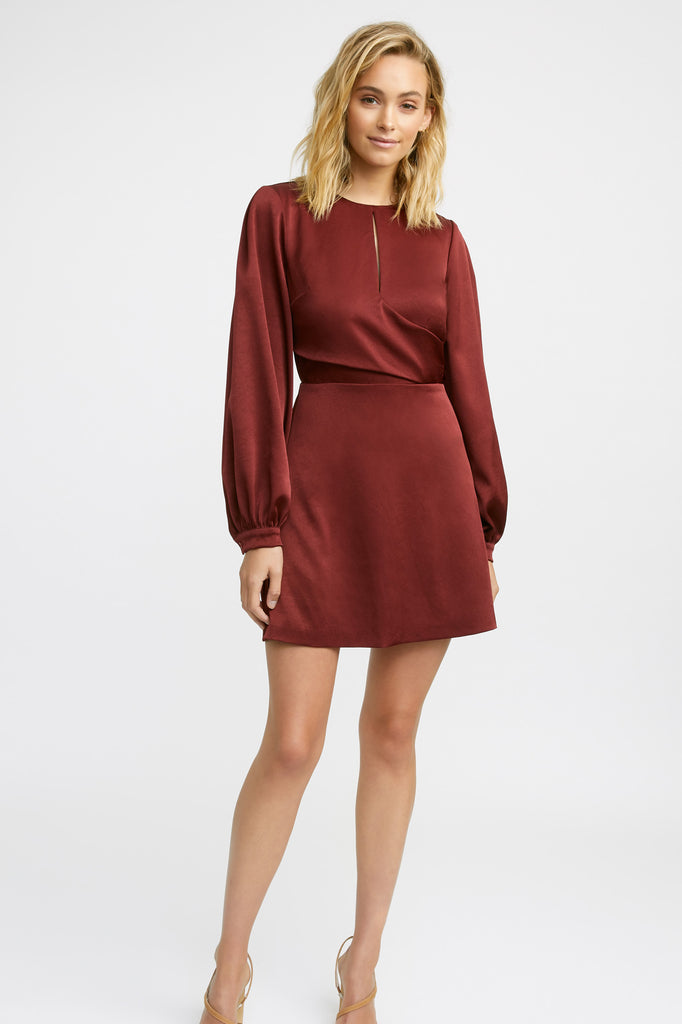 Majestic Keyhole Mini Dress