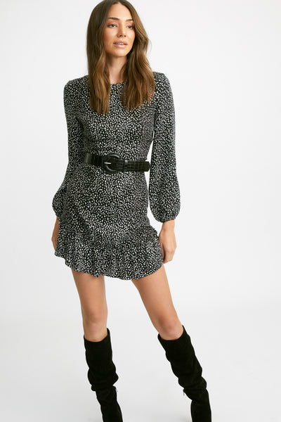 Snow Leopard Mini Dress