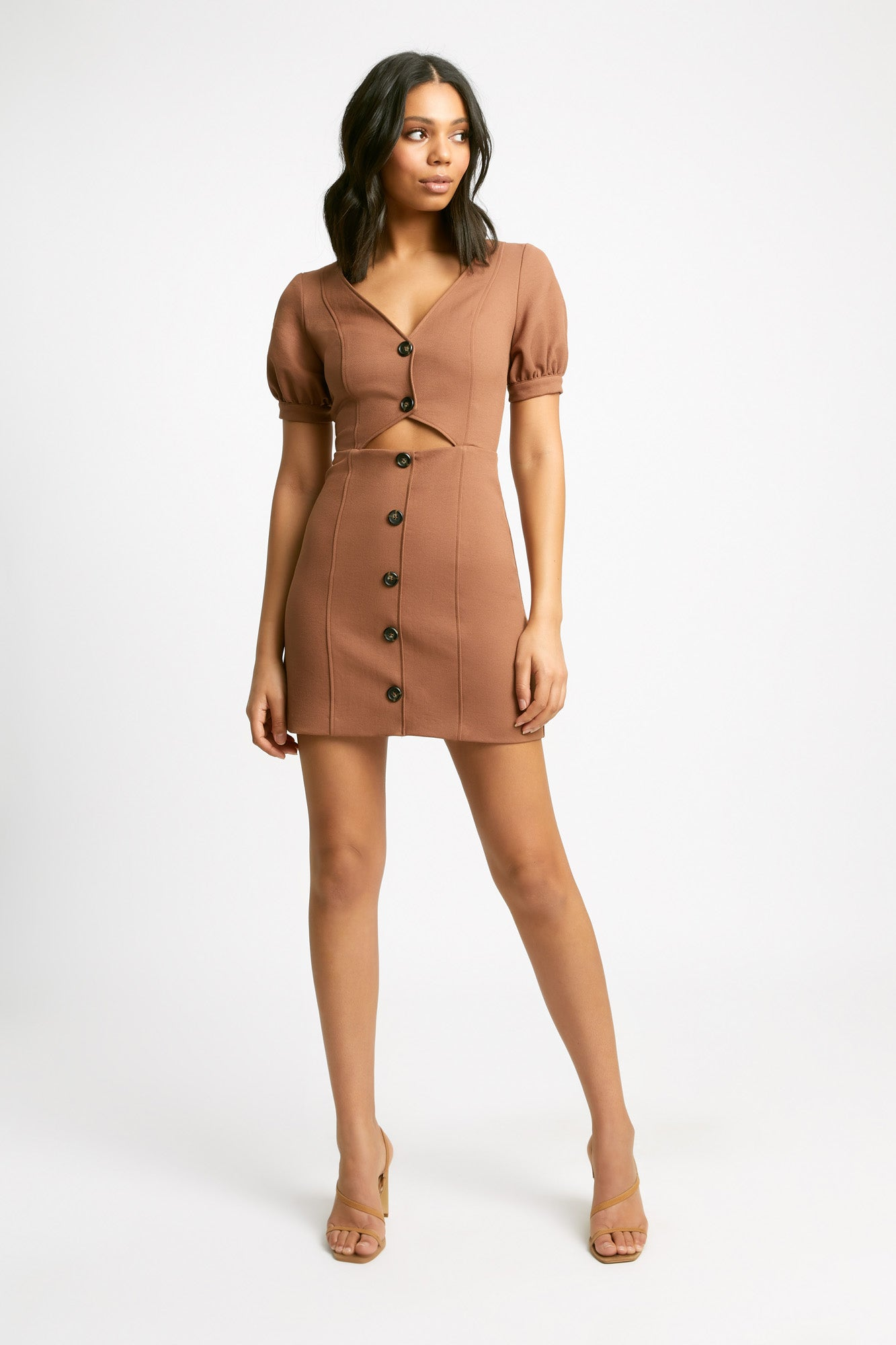 Stella Button Mini Dress