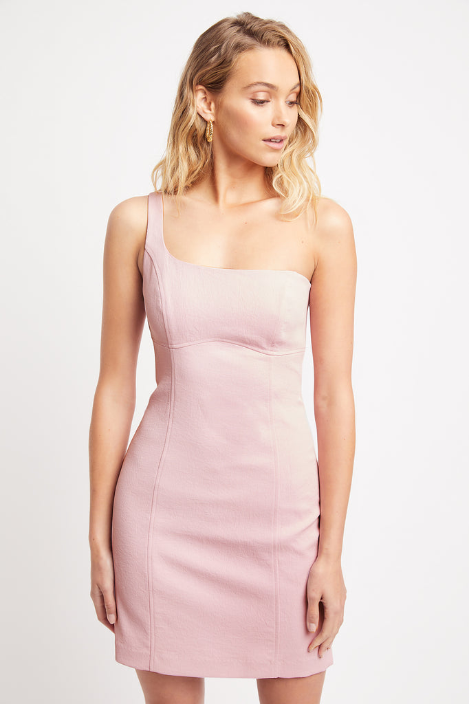 Oyster One Shoulder Dress