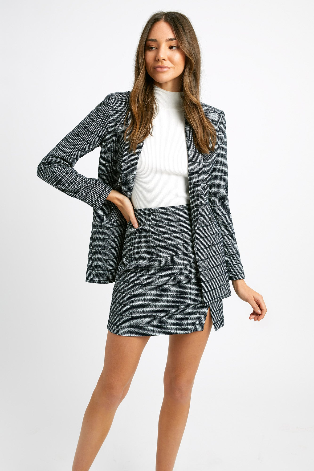Manhattan Check Blazer