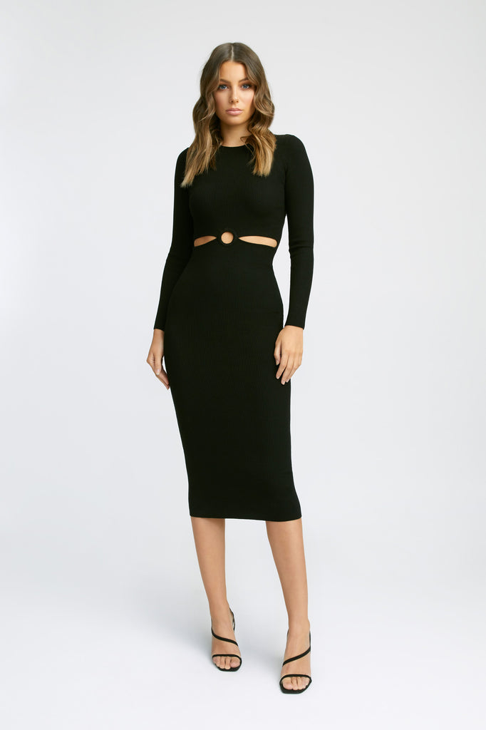 Lola Long Sleeve Cut Out Dress