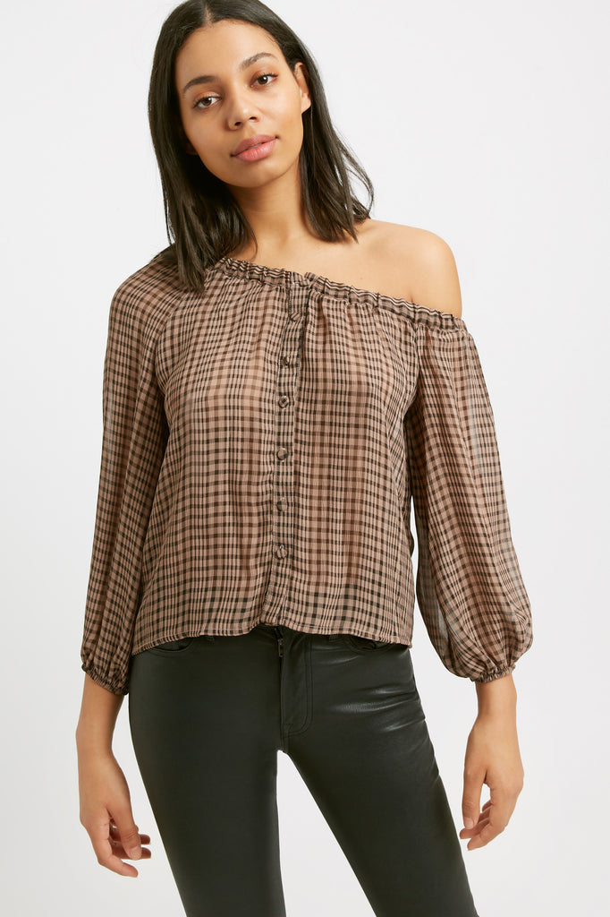 Margot Check Top