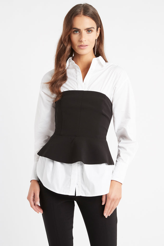 Delta Peplum Top