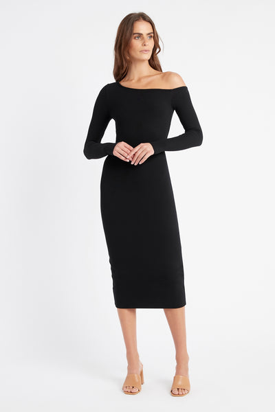 Kara One Shoulder Midi Dress