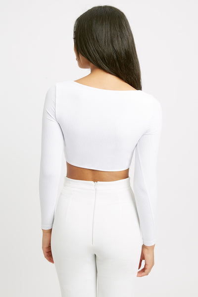 Kizzy Long Sleeve Crop