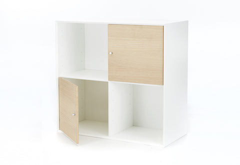 THE BOX -  oak & white