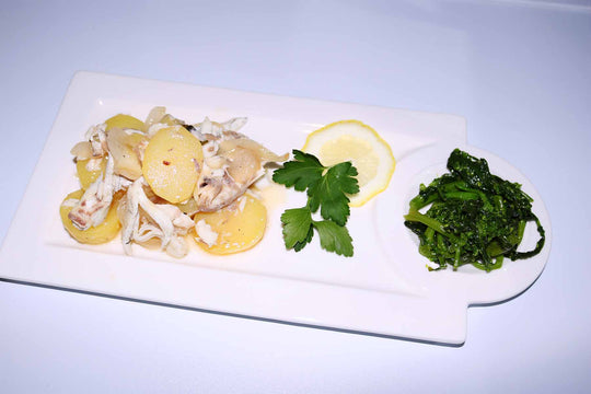 Orata Fish with Potatoes casserole