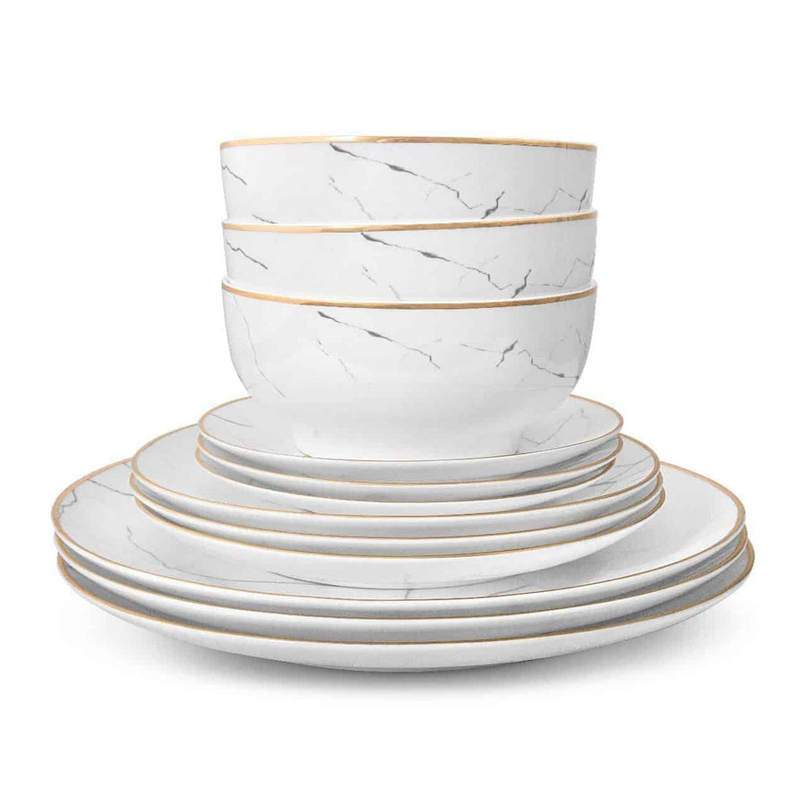 CARRARA MARBLE DINNERWARE SET