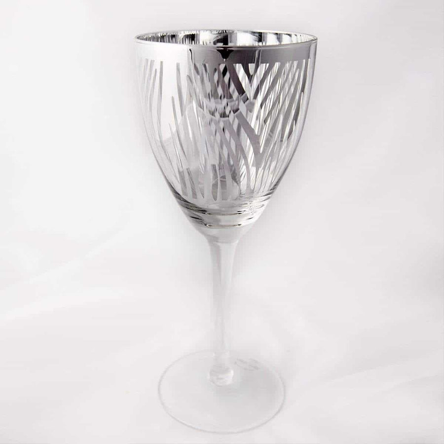 Silver Zebra Wine Glass- Set of 4