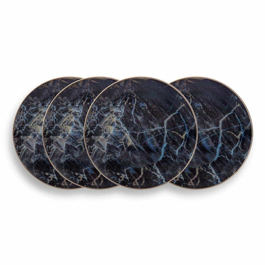Black Marble Accent Plate-Set of 4