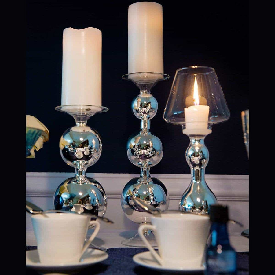 Silver Lampshade Candlestick