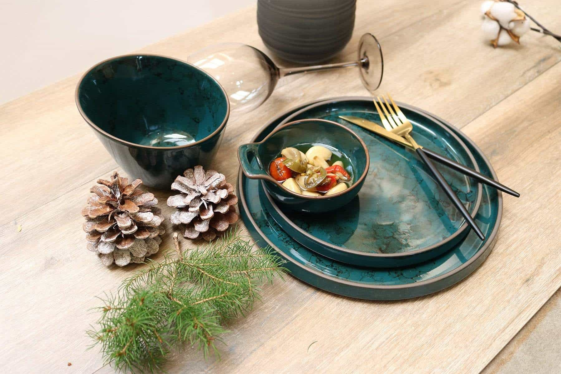 Azure Granite Dinner Plate-Set of 4