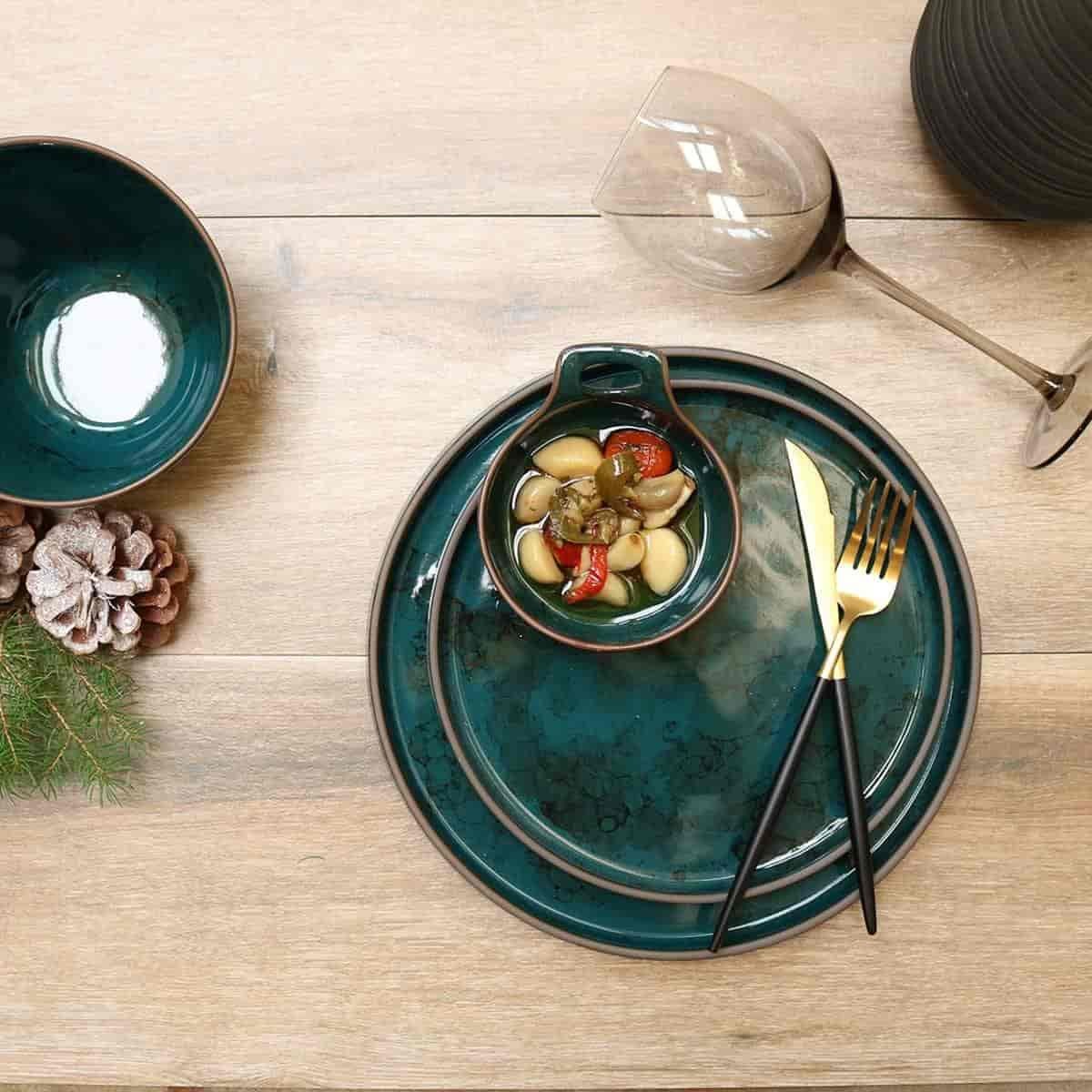 Azure Granite Dinnerware Set-16 Pieces