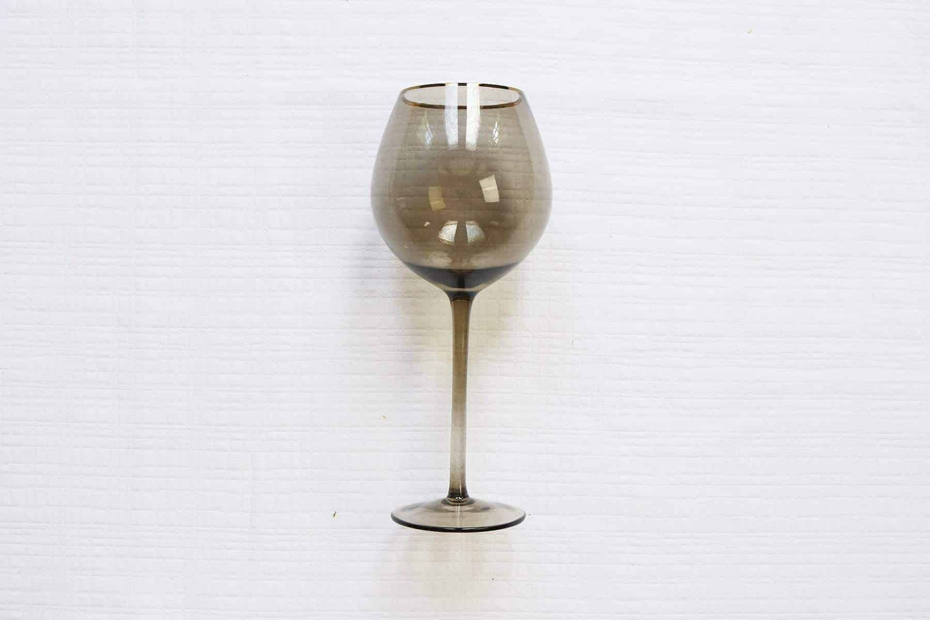 Gold Rim Black Smoke Glass-Set of 4