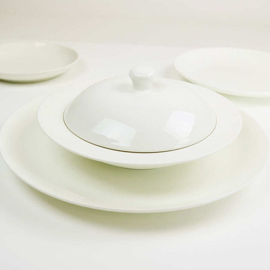 ANGELIC WHITE DINNER PLATES-SET OF 4