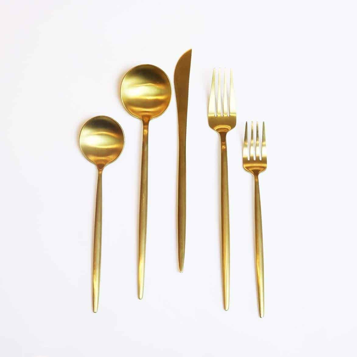 Gold Obelisk Flatware-20 Pieces