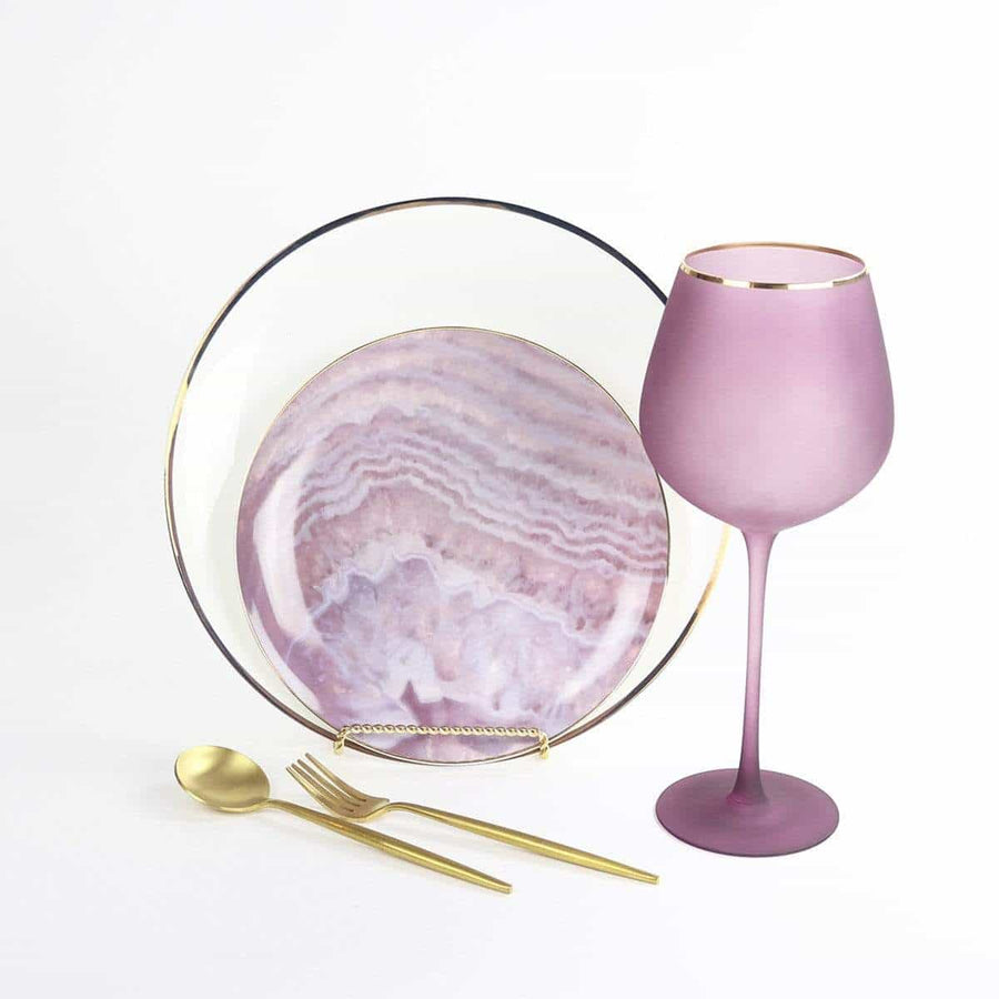 Nebulous Pink Glasses-Set of 4