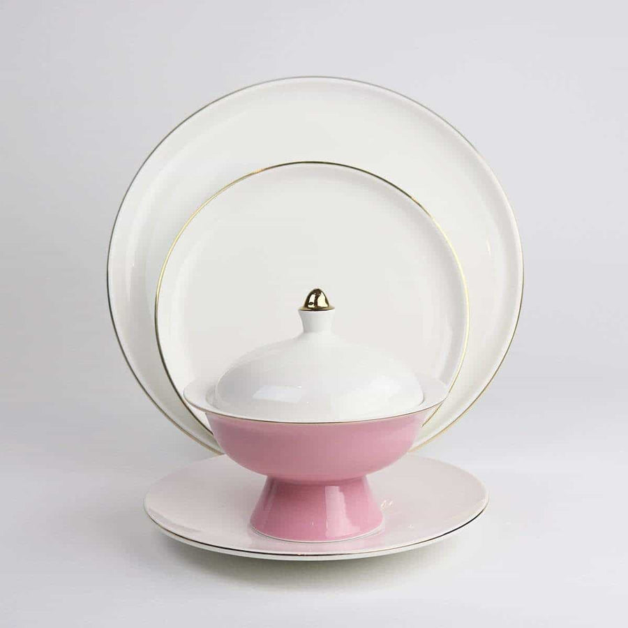 Pink Versaille Soup Bowl-Set of 4