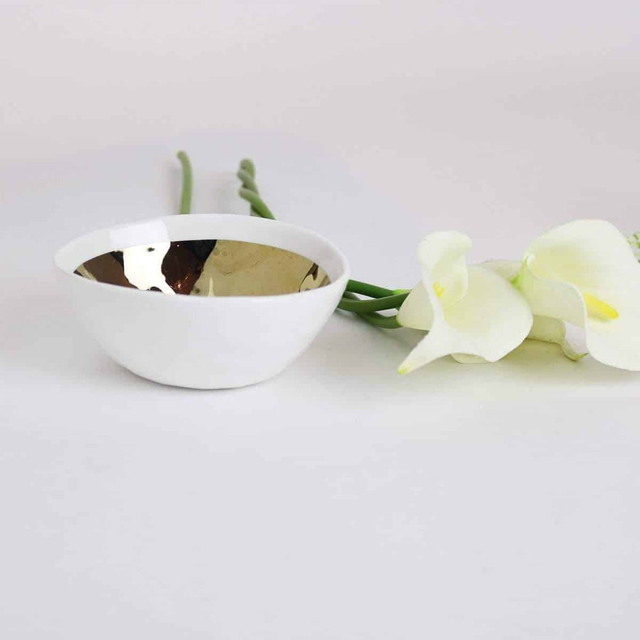 Gold Dimpled Accent Bowl-Set of 4