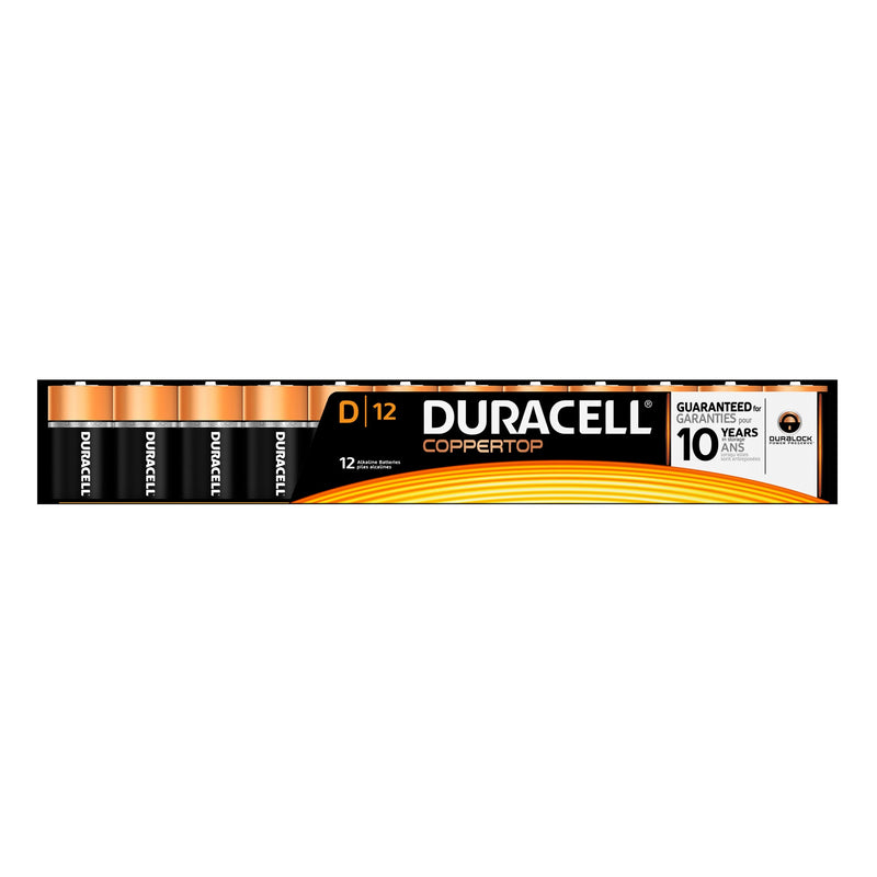 Duracell D Batteries;Pack of 12