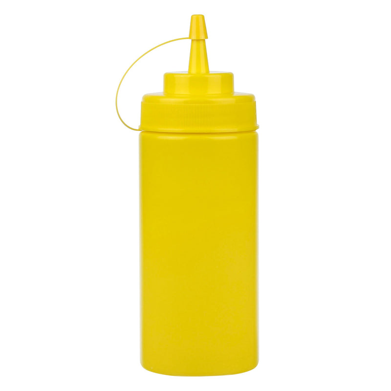Resto 16-oz Yellow Wide-mouth Squeeze Bottle;Pack of 6