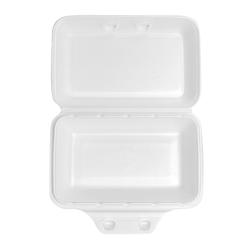 Pactiv Medium Shallow Single Compartment Hinged Container;Pack of 220