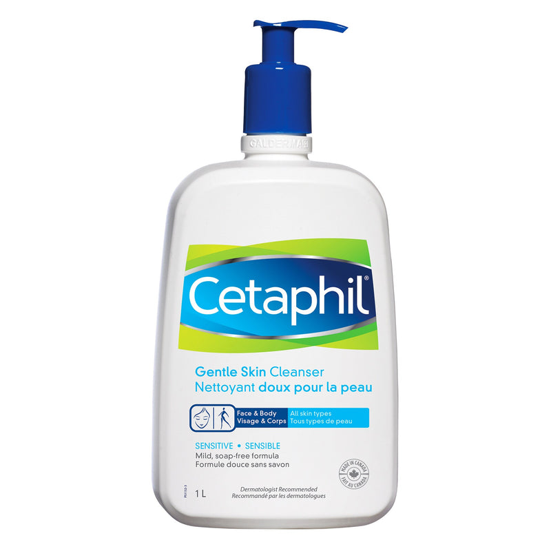 Cetaphil Sensitive Gentle Skin Cleanser, 1 L